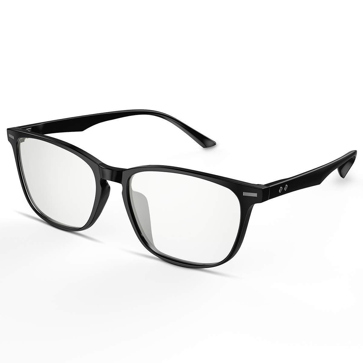 Blue Light Blocking Glasses-BEASEN Computer Glasses for Women and Man,Block UV Light to Reduce Eye Strain, Headaches, Migraines,Help Improve Productivity, Energy, and Gaming Focus,Black