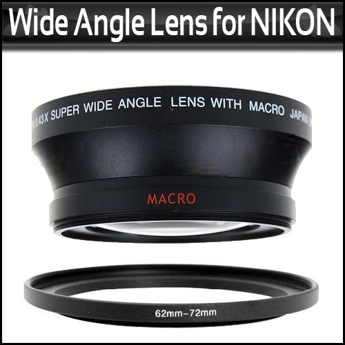67MM 0.43X Wide Angle Lens With Macro For Nikon D200 D100 D2H D80 D50 D70 D70S D90 That Use FOLLOWING NIKON LENSES 18-105mmc 18-135mm