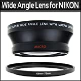 67MM 0.43X Wide Angle Lens With Macro For Nikon D200 D100 D2H D80 D50 D70 D70S D90 That Use FOLLOWING NIKON LENSES 18-105mm, 18-135mm