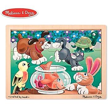 Amazon com: Melissa & Doug African Plains Wooden Jigsaw