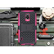 Galaxy S5 Active Case, Cocomii Grenade Armor NEW [Heavy Duty] Premium Tactical Grip Kickstand Shockproof Hard Bumper Shell [Military Defender] Full Body Dual Layer Rugged Cover Samsung G870 (Pink)