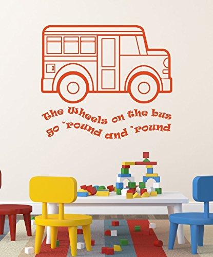 Nursery Rhymes Tea (Nursery Rhyme Wall Decals - The Wheels on the Bus Song - Decor for Baby Nursery, Playroom, Preschool Classroom)