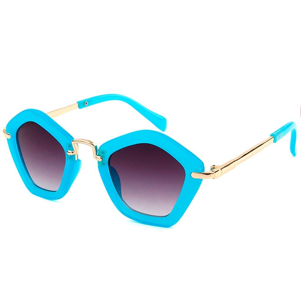Minzhi Polygonal Kinder Sonnenbrillen f/¨/¹r Kinder Jungen M?dchen AC Objektiv Sonnenbrillen Kunststoffrahmen UV 400 Sonnenschutz Baby-Brillen