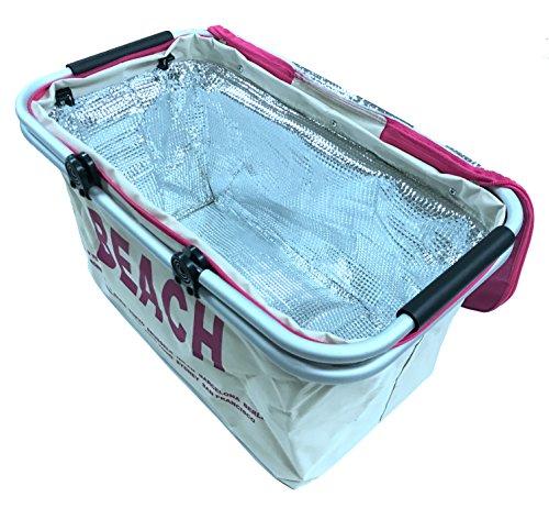 IHOMAGIC Kühltasche Family Picnic Kühltasche, isolierte Travel Lunch Kühltasche für Damen und Herren. rosarot