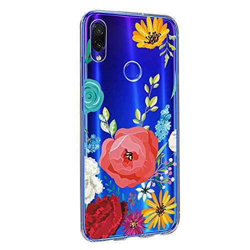 Case Compatible with XiaoMi RedMi Note 7 / RedMi Note 7 pro, Transparent Silicone Water Proof Crystal Clear Soft TPU Cover Back Thin Flexible Shockproof Case (3, XiaoMi RedMi Note 7)