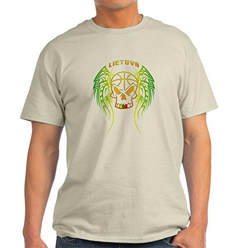 fan products of CafePress Lt Basketball Tribal Skull Light T-Shirt - 100% Cotton T-Shirt