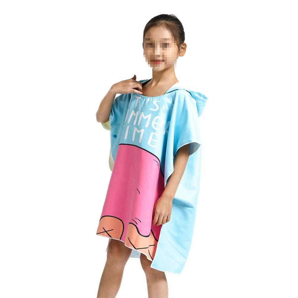 HUACHEN-LS Towel for Kids Boys Girls Fast Drying Beach Towel for Swim Pool Ultra Absorbent Cotton Poncho Bath Towel Hooded Bath Bathroom Daily