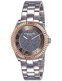 Stuhrling Original Women's 743.04 Vogue Audrey Shimmer Swiss Quartz Rose Tone Stainless Steel Bracelet Watch