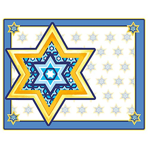 Star of David Paper Placemat (8 Count) by Partypro from Partypro