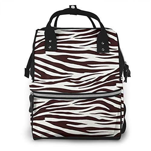 UICSOl Diaper Bags Metro Living Zebra Chocolate Fashion Mummy Backpack Multi Functions Large Capacity Nappy Bag Nursing Bag for Baby Care for Traveling