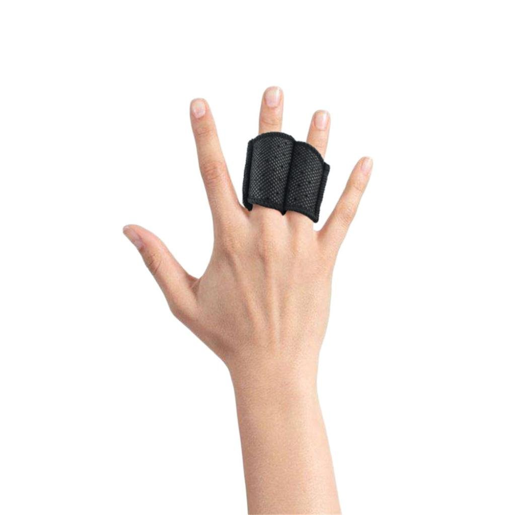Fdsd Sports Finger Protection Double Finger Splint Joint Support Brace Protection for Basketball Volleyball Football etc. (Black)