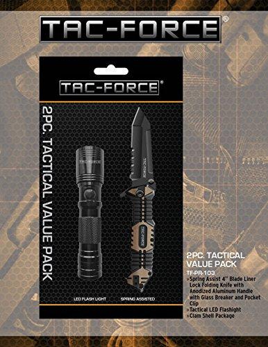 Tactical Folding Knife Black Blade, 3.75