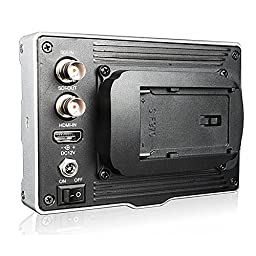 Koolertron 5 inch Aluminum Ultra HD LCD Field 800*400 SDI Video On-Camera Monitor with F960 Plate Peaking Focus Assist HDMI for Canon 5D II Nikon DSLR Camera Camcorder