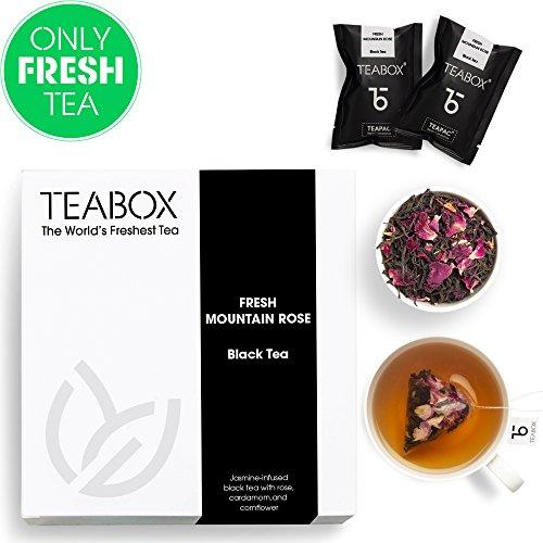 (Teabox Himalayan Rose Herbal Black Tea, 16 Tea Bags)