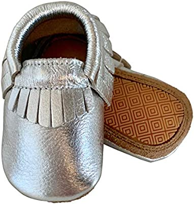 Baby Moccasins Premium Leather Infant Toddler Shoes for Girls and Boys