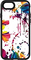 Skinit Decal Skin for Otterbox Symmetry iPhone 7 - Originally Designed Chromatic Splatter White Design