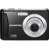 Olympus T-100 12MP Digital Camera with 3x Optical Zoom and 2.4 inch LCD (Black) (Old Model)
