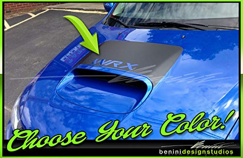 - 2010 and up Custom Hood Scoop Blackout Stripes Decals 2 Compatible with Impreza WRX STI (Carbon Fiber)