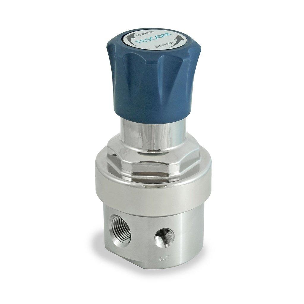 0-125 PSIG Out 1.0 CV Neoprene Diaphragm 5 port 1//2 NPTF 1//2 NPTF TESCOM SG3P4150 SG3 Single-Stage Pressure Regulator Plated Brass Body