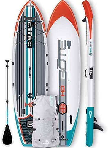 BOTE HD Aero Inflatable Stand Up Paddle Board, SUP with Accessories Pump, Paddle, Fin Travel Bag