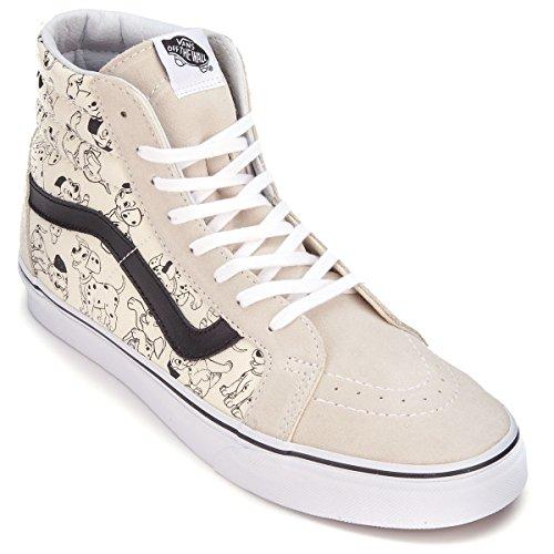 Vans Sk8-hi Reedición Mujeres Talla 5.5 Disney Dalmaciones Perros Zapatos Blancos