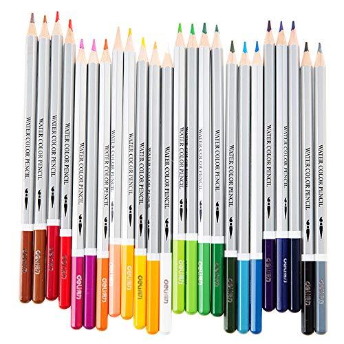 買取milio 水彩色鉛筆24色 水溶性の色鉛筆 塗り絵 描き用 水溶性色鉛筆