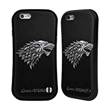 Official HBO Game Of Thrones Silver Stark Sigils Hybrid Case for Apple iPhone 6 / 6s