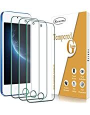 Kesuwe (3-Pack) Glass Screen Protector Compatible For Apple iPod Touch 7, 6, 5 4.0-inch Tempered Glass, anti Scratch, Bubble Free, 2.5D Edge, 9H Hardness