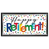 """Fun-Filled Retirement Party """"Happy Retirement"""" Horizontal Giant Sign Banner Decoration, Plastic, 65"""" x 33"""""""