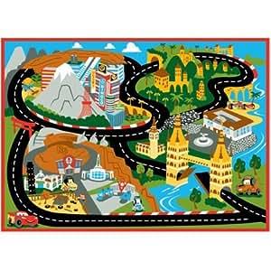 Amazon Com Disney Cars Mount Fuji Game Rug 44 Quot X 31 5