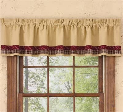 Amazon Com Park Designs My Country Home Lined Border Valance Home Kitchen