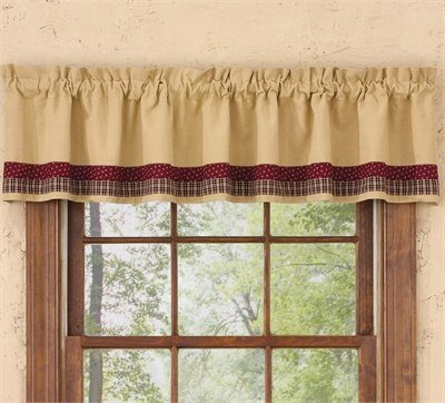 My Country Home Lined Border Valance, Park (Halloween Window Treatment Ideas)