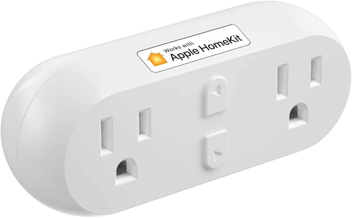 meross Smart Plug Dual WiFi Outlet Plug 2 in 1, Support Apple HomeKit, Siri, Alexa, Echo, Google Assistant, Nest Hub and SmartThings, Voice Control, Remote Control, Timer, No Hub Required
