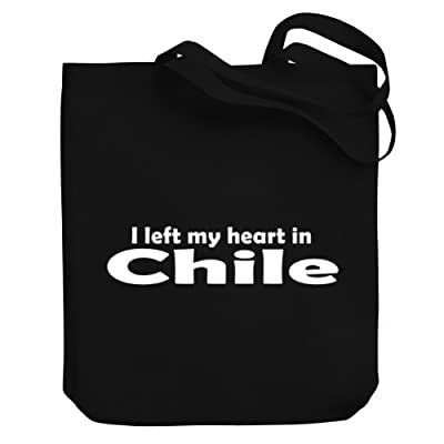 free shipping Teeburon I LEFT MY HEART IN Chile Canvas Tote Bag