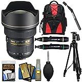 Nikon 14-24mm f/2.8G AF-S ED Zoom-Nikkor Lens + Backpack + Tripod + Sensor Clean Kit for D3200, D3300, D5300, D5500, D7100, D7200, D750, D810 Camera