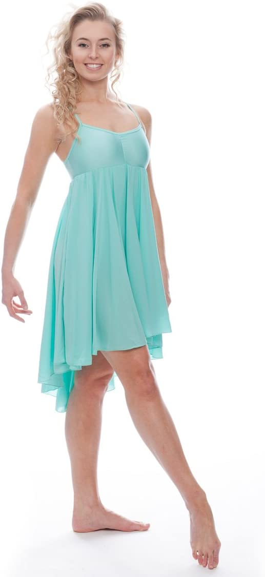 Katz Dancewear Ladies Girls Mint Green Lyrical Dress Contemporary Ballet Modern Dance Ballroom Costume