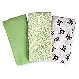 SwaddlMe 3 Piece Premium Muslin Go Banans Blanket Set