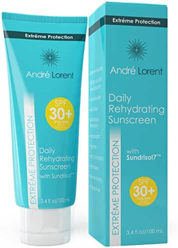 Daily Rehydrating Sunscreen: SPF 30+ - Contains Vitamins B, C, E & Seaweed Extract - Rehydrating Skin Protection - Paraben & Fragrance Free - Broad Spectrum UVA / UVB Protection