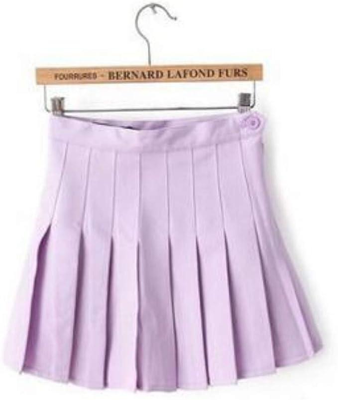 HEHEAB Falda,Púrpura Faldas Mujer Señoras Punk Academia Kawaii AA ...