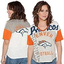 Women's Denver Broncos Touch by Alyssa Milano Cream Touch Power Play T-Shirt XL