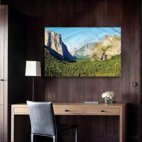 Gabriesl Wall Mural Wallpaper Stickers Yosemite El Captain Scenery USA Kitchen Room Wall Size : W28 x H20 ()