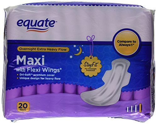 equate maxi pads - 8