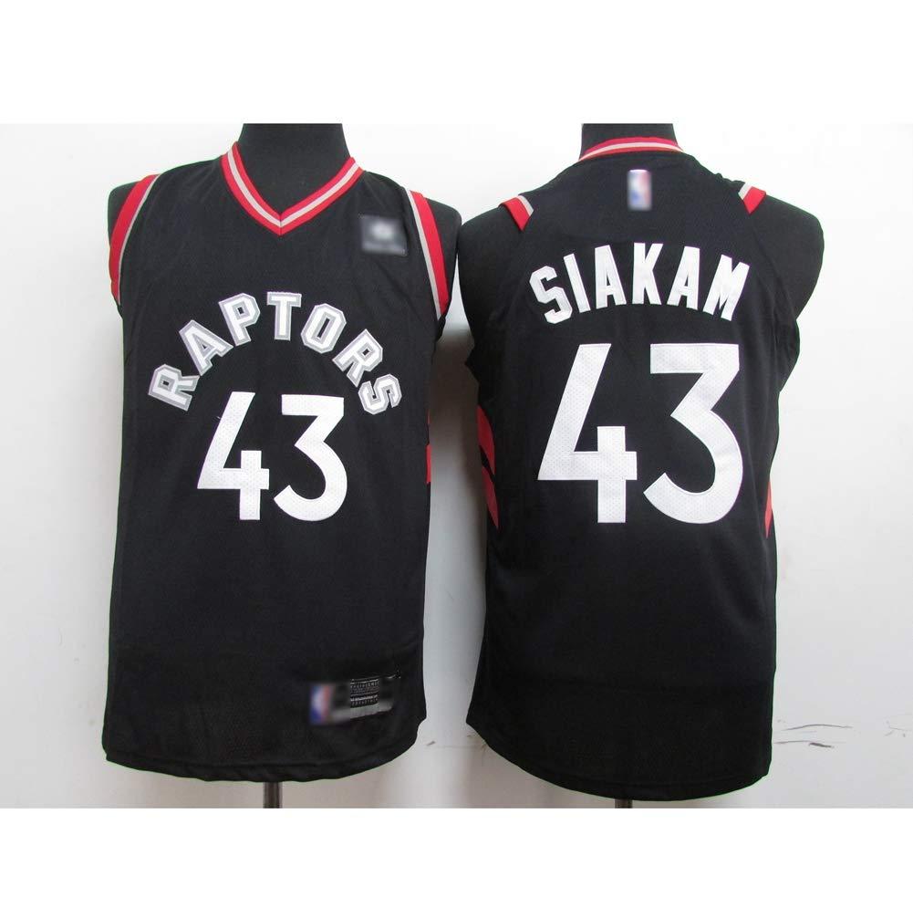 fans Basketball vests Uniform,2XL:185cm~190cm 43# Pascal Siakam Toronto Raptors Breathable Vintage Youth Sleeveless Tops HS-ATI NICE Mens Basketball jerseys