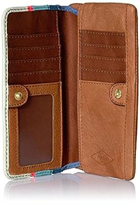 Fossil Preston Rfid Flap Wallet-bright Stripe Wallet