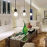 1 light Creative glass bubble ball chandelier modern minimalist pendant light dining Bar Lounge hanging lighting fixture
