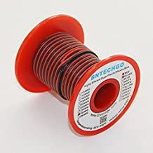 BNTECHGO 26 Gauge Silicone Wire - Soft and Flexible High Temperature Resistant 200 deg C 600V Highly Efficient 26 AWG Silicone Wire 30 Strands of copper wire for Model Low Impedance