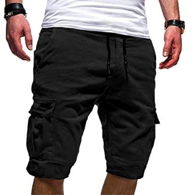 mens knee length shorts
