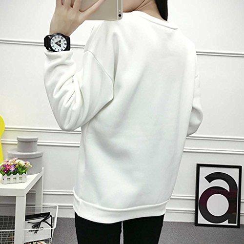 Minzhi Pullover donna ragazza Pullover manica corta collo rotondo maglione studente camicie tute vestiti