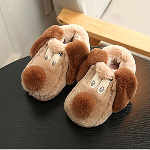 TPulling Mode Junge Und Mädchen Herbst Und Winter Kinder Niedliche Baumwolle Welpen Gemusterte Babyschuhe Lässige Schuhe Braun