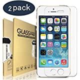 "EYMEN® iPhone 8, 7, 6S, 6 Screen Protector Glass, Tempered Glass Screen Protector for Apple iPhone 8, 7, iPhone 6S, iPhone 6 [4.7"" inch] 2017 2016, 2015 [2-Pack]"